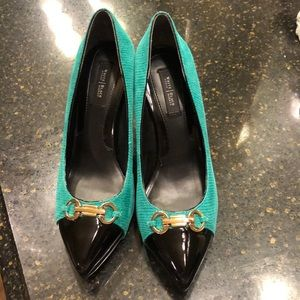 White House Black Market Green Samantha shoes 7.5